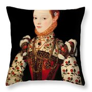 A Young Lady Aged 21 Throw Pillow