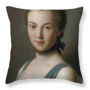 A Young Lady Throw Pillow