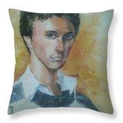 A Young Man Throw Pillow