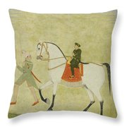 A Young Prince On Horseback Throw Pillow
