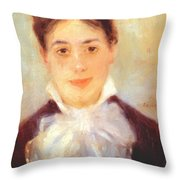 A Young Woman 1875 Throw Pillow