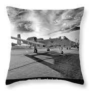 A10 Thunderbolt Throw Pillow