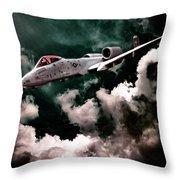 A10 Thunderbolt In Flight Throw Pillow