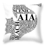 A1A Throw Pillow