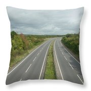 A27 Dual Carriageway Totally Clear Of Traffic. Throw Pillow