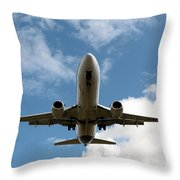 B737 Landing Throw Pillow