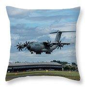 A400m Plane Lands Throw Pillow