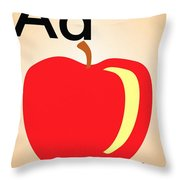 Aa Is For Apple Throw Pillow