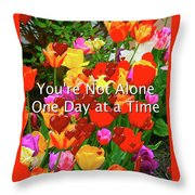 Aa One Day At A Time Throw Pillow