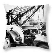 Aaa Tow Truck Throw Pillow