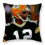 Aaron Rodgers - Green Bay Packers Throw Pillow