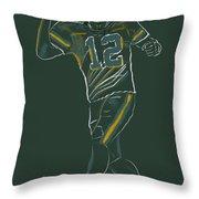 Aaron Rodgers Throw Pillow