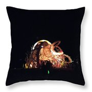 Ab Artwork At Night Throw Pillow