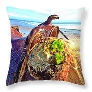Abalone On Saddle Throw Pillow
