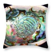 Abalone Seashell Throw Pillow