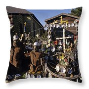 Abalone Shell House Throw Pillow