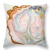 Abalone Shell Study #1 Throw Pillow