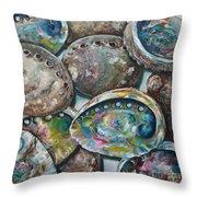 Abalone Shells Throw Pillow