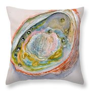 Abalone Study #2 Throw Pillow