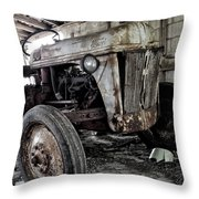 Abanded Tractor 3 Throw Pillow