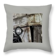 Abanded Tractor 4 Throw Pillow