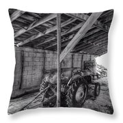 Abanded Tractor 5 Throw Pillow