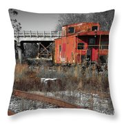 Abandon Caboose Throw Pillow