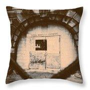 Abandon Hope All Ye Who Enter Here Throw Pillow