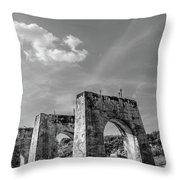Abandonded Trestle Throw Pillow