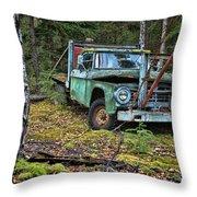 Abandoned Alaskan Logging Truck Throw Pillow