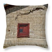 Abandoned Barn Throw Pillow
