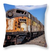 Abandoned Bessemer And Lake Erie Trains Schellville California Throw Pillow