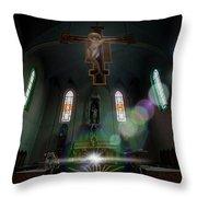 Abandoned Blue Church - Chiesa Blu Abbandonata Throw Pillow