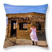 Abandoned Building California Throw Pillow