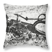 Abandoned Bw Throw Pillow