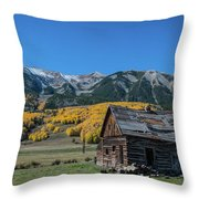 Abandoned Cabin Near Crested Butte Throw Pillow by Michael Ver Sprill