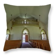Abandoned Church In Prison Yard Throw Pillow