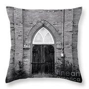 Abandoned Church Throw Pillow