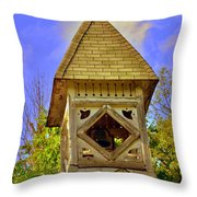 Abandoned Church Steeple Throw Pillow