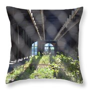 Abandoned Cnj Terminal Throw Pillow