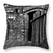 Abandoned Country Barn Throw Pillow