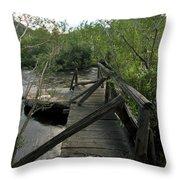Abandoned Dock Throw Pillow