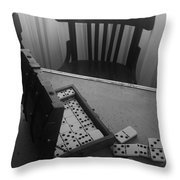 Abandoned Domino Set Throw Pillow