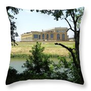 Abandoned Electric Plant Throw Pillow