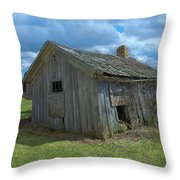 Abandoned Farm Building Throw Pillow
