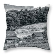 Abandoned Farm Buildings Throw Pillow