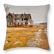 Abandoned Farm House Throw Pillow