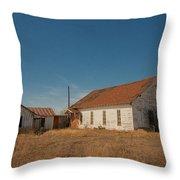 abandoned farm house dance hall #VanishingTexas Throw Pillow
