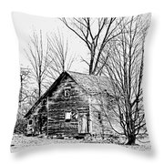 Abandoned Farmhouse In The Michigan Countryside Throw Pillow
