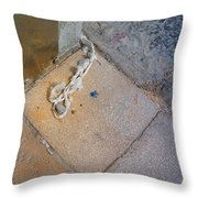 Abandoned Fishing Knot Throw Pillow